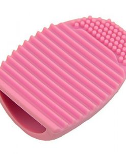 Cleaning-MakeUp-Washing-Brush-Silica-Glove-Scrubber-Board-Cosmetic-Clean-Tools-Pink-0