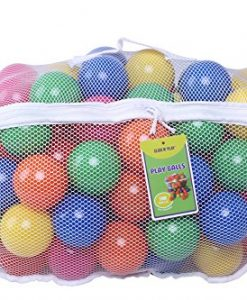 Click-N-Play-Pack-of-100-Phthalate-Free-BPA-Free-Crush-Proof-Plastic-Ball-Pit-Balls-6-Bright-Colors-in-Reusable-and-Durable-Storage-Mesh-Bag-with-Zipper-0