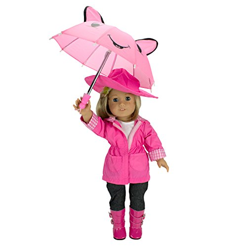 c16e9077c1a29 Doll Clothes for American Girl Dolls  6 Piece Rain Outfit – Includes Rain  Jacket