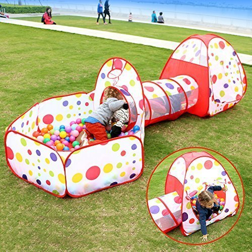 Home ...  sc 1 st  Epic Kids Toys & FocuSun Pop up Kids Play Tent with Tunnel and Ball Pit Indoor and ...
