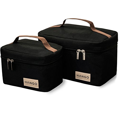 e40334888e00 Hango Insulated Lunch Box Cooler Bag (Set of 2 Sizes), Black