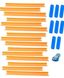Hot-Wheels-Track-Builder-Straight-Track-Includes-15-Feet-of-Track-and-a-Bonus-Car-0
