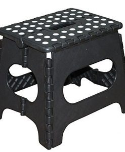 Jeronic-11-Inch-Plastic-Folding-Step-Stool-Black-0