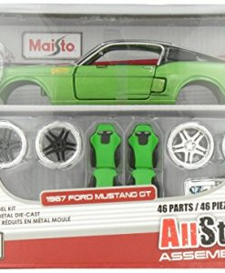 Maisto-124-Scale-All-Star-Assembly-Line-1967-Ford-Mustang-GT-Diecast-Model-Kit-Colors-May-Vary-0