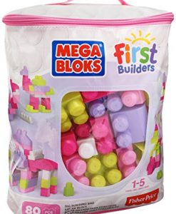 Mega-Bloks-DCH62-First-Builders-Big-Building-Bag-80-Piece-Pink-0