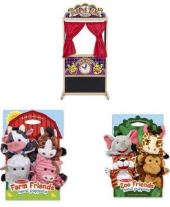 Melissa-Doug-Puppet-Theater-with-Farm-Friends-and-Zoo-Friends-Hand-Puppets-0