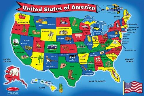 Melissa Doug Usa Map 51 Pcs Floor Puzzle Epic Kids Toys