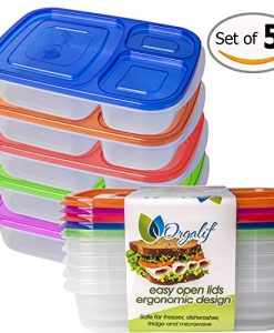 Orgalif-Bento-Lunch-Box-Container-Food-Storage-3-compartment-Eco-Friendly-for-Kids-Reusable-Lunchbox-Made-with-High-Quality-Plastic-Microwavable-Dishwasher-Safe-Bpa-Free-Perfect-for-School-and-Office--0