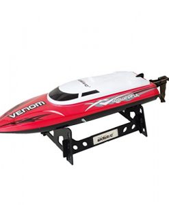 UDI001-Venom-Remote-Control-Boat-for-Pools-Lakes-and-Outdoor-Adventure-24GHz-High-Speed-Electric-RC-includes-BONUS-BATTERY-Doubles-Racing-Time-Exclusive-Red-Color-0