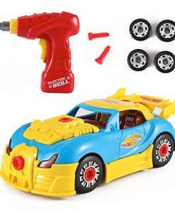 World-Racing-Car-Take-A-Part-Toy-for-Kids-with-30-Take-Apart-Pieces-Tool-Drill-Lights-and-Sounds-0