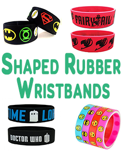 Shaped Rubber Wristbands